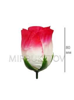 Роза бутон широкий, шелк, 80 мм, F14-2