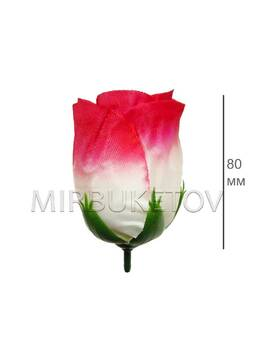Роза бутон широкий, шелк, 80 мм