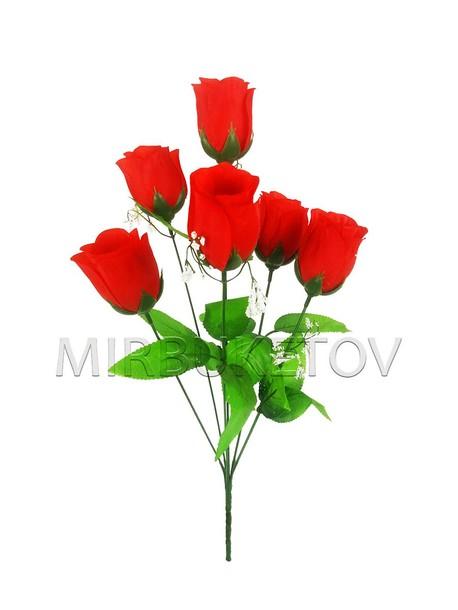 Букет на 6 голов искусственной розы, 470 мм, M700