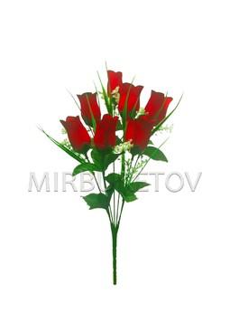 Букет на 7 голов искусственной розы, 400 мм, M901