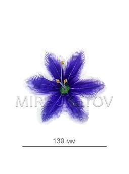 Пресс цветок орхидея атлас фиолетовая, 120 мм, E9