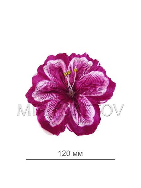 Пресс цветок Лилия атласная темно-сиреневая, 120 мм, E10