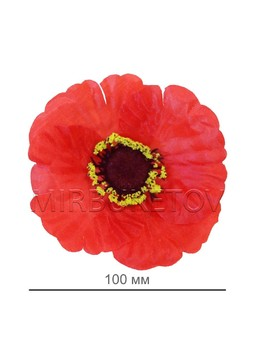 Мак красный шелковый, 100 мм, G5a
