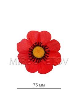 Мак красный шелковый, 75 мм, C5