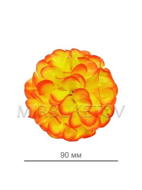 Искусственные цветы Георгина, атлас, 90 мм