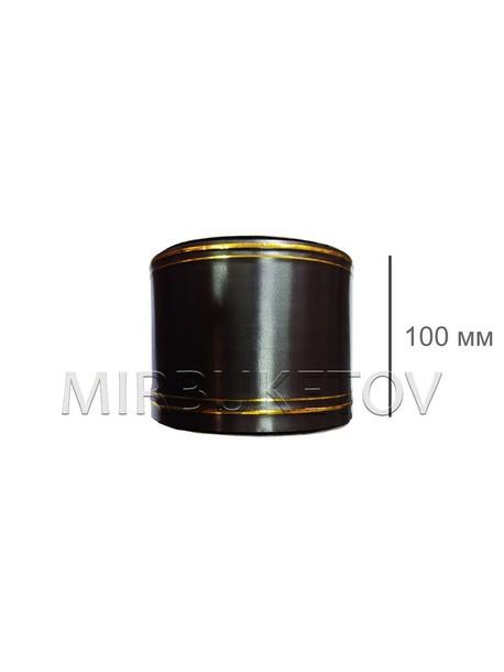 Лента водонепроницаемая с золотыми полосами, 100 мм, 100 ярд