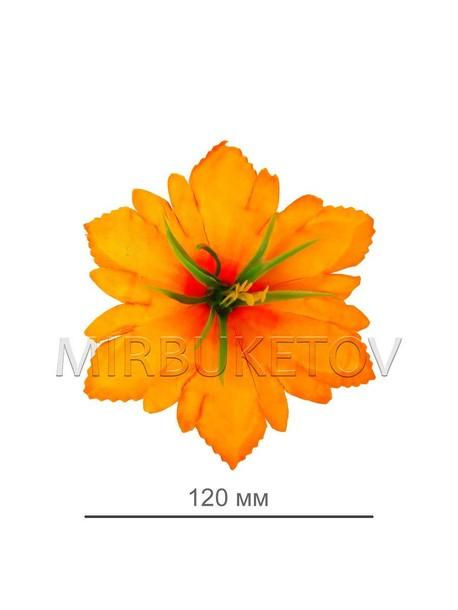Искусственные Пресс цветы с тычинкой куст Лилия резная, 120 мм