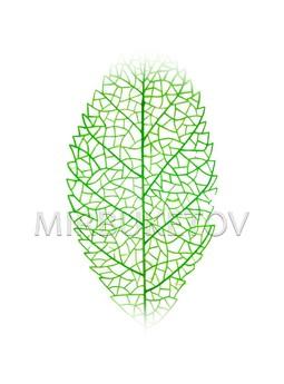 Лист Ореха пластмассовый, 390 мм