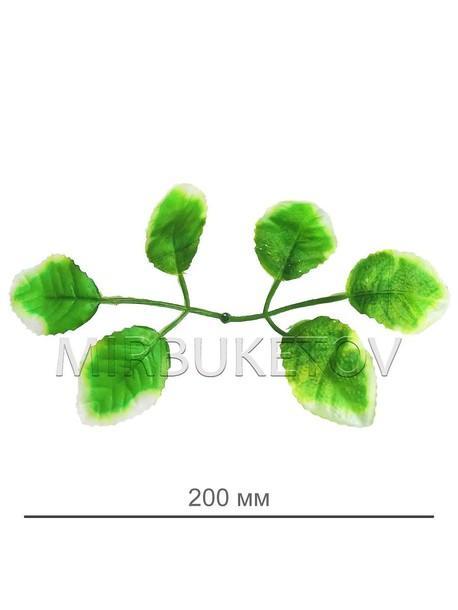 Лист салатовый под розу шестерной, 200 мм, L102