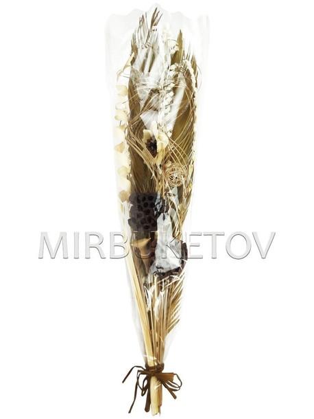 Декоративный букет из засушенных растений, 110 мм, Lx008