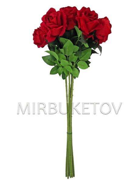 Искусственная бархатная роза на ножке, 700 мм, Lx011