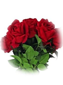Искусственная бархатная роза на ножке, 700 мм