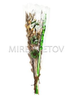 """Декоративный букет из засушенных растений """"Спираль"""", 850 мм, Lx015"""