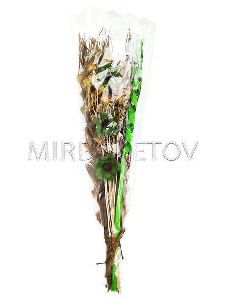 """Декоративный букет из засушенных растений """"Спираль"""", 850 мм"""