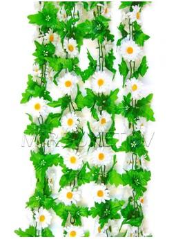 Лиана Ромашка белая с листом, 200 мм, Ln003