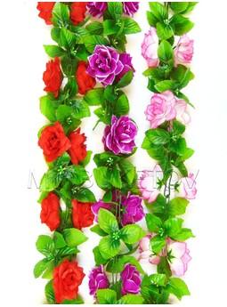 Лиана Роза с листом, 200 мм, Ln005