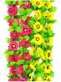 Лиана Хризантема с листом, 200 мм, Ln006