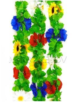 Лиана Полевые цветы с листом, 200 мм, Ln007