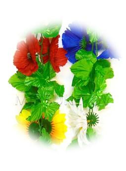 Лиана Полевые цветы с листом, 200 см