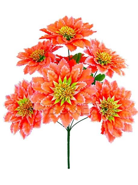 Искусственные цветы Букет Герберы, 7 голов, 530 мм