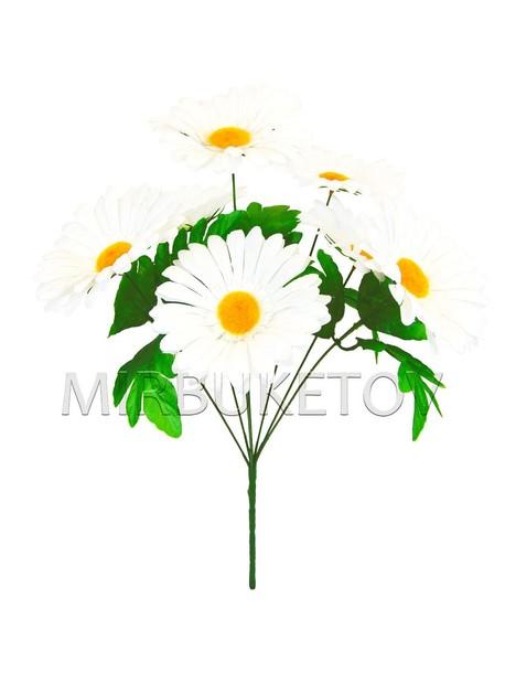 Искусственные цветы Букет Ромашки белой, 7 голов, 430 мм