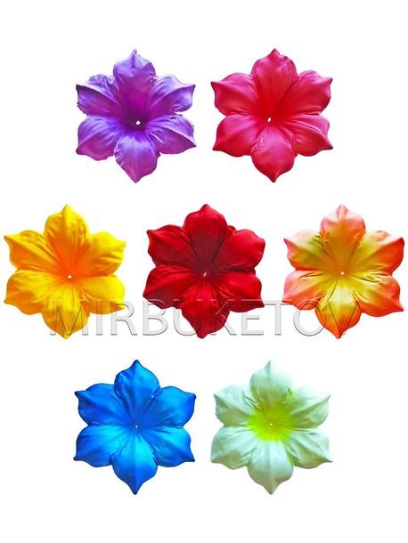 Искусственный пресс-цветок без тычинки Мальва, 120 мм, A001