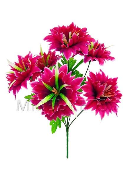 Искусственные цветы Букет Нарцисс резной, 6 голов, 450 мм