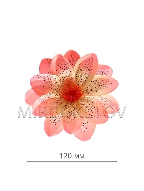 Искусственный цветок Крокуса персиковый, 120 мм, E74