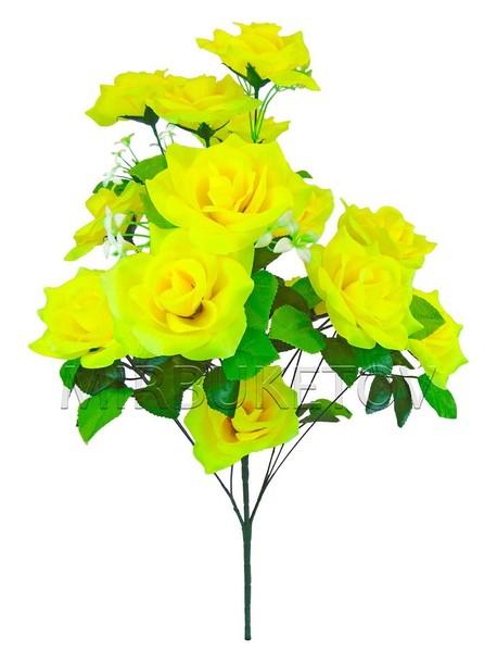 Букет искусственной Розы, 15 голов, 700 мм, M040