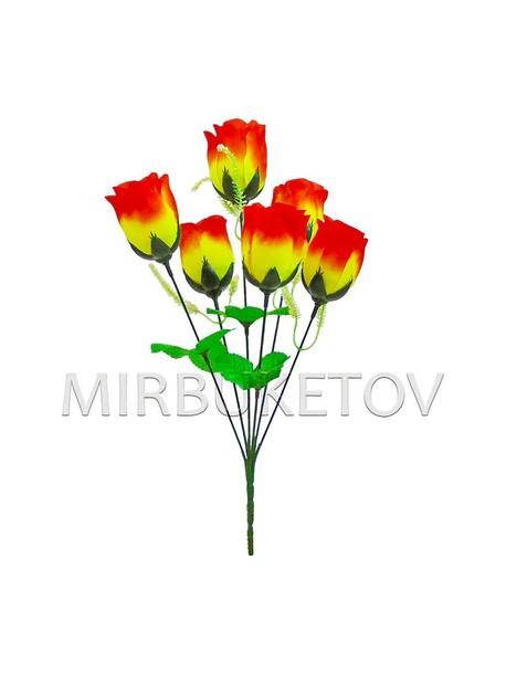 """Букет искусственной розы """"Одесса"""", 6 голов, 390 мм, M701"""