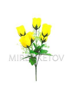 """Букет искусственной розы """"Днепр"""", 6 голов, 390 мм, M704"""