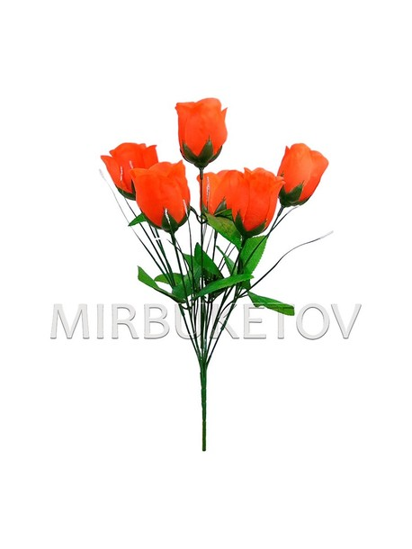"""Букет искусственной розы """"Хмельницкий"""", 6 голов, 390 мм, M705"""