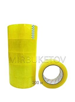 Скотч упаковочный прозрачный, 200-1500 м, 45 мм, DT001