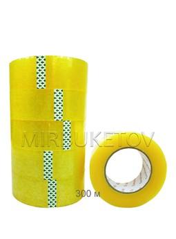 Скотч упаковочный прозрачный, 300 м, 45 мм, DT002