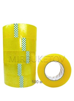 Скотч упаковочный прозрачный, 500 м, 45 мм, DT003