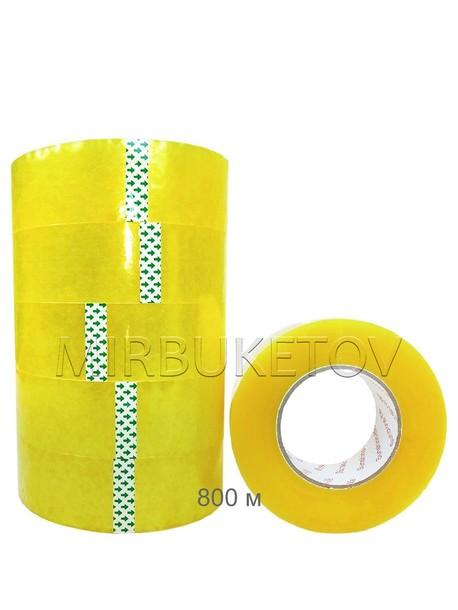 Скотч упаковочный прозрачный, 800 м, 45 мм, DT004