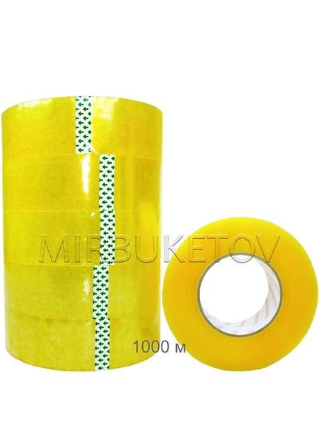 Скотч упаковочный прозрачный, 1000 м, 45 мм, 45 мкм, DT005