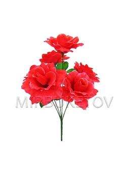 Искусственный букет волнистой Розы, 6 голов, 370 мм, M041