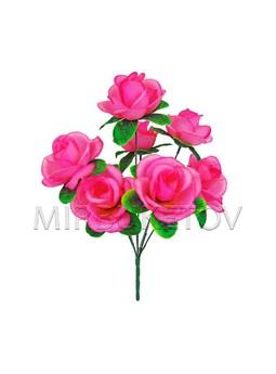 Букет искусственных роз, 7 голов, 380 мм, M043