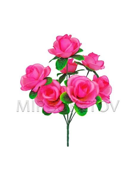Искусственные цветы Букет Роз, 7 голов, 380 мм