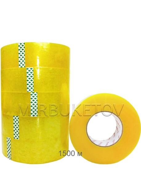 Скотч упаковочный прозрачный, 1500 м, 45 мм, 45 мкм, DT006