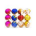 """Новогодние шары """"Зимняя звезда"""", колба 3 шара, 100мм"""