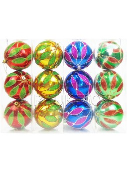 """Новогодние шары """"Праздник пришел"""", колба 3 шара, 100мм, 644A"""