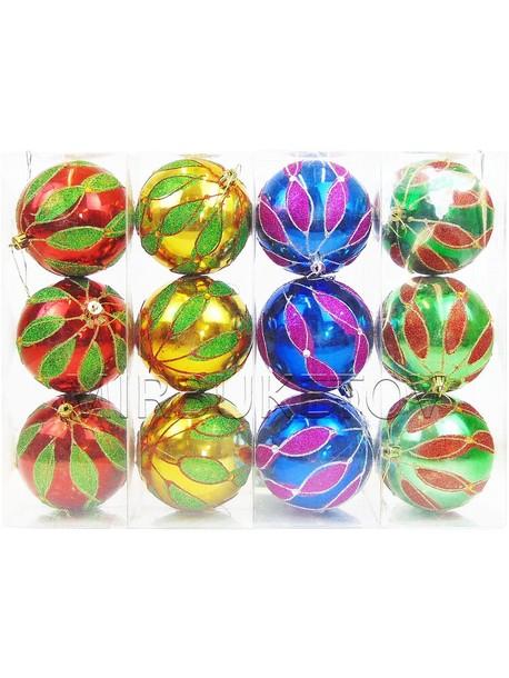 """Новогодние шары """"Праздник пришел"""", колба 3 шара, 100мм"""