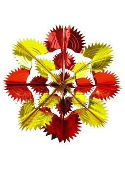 """Новогоднее украшение 3D """"Солнце"""", фольга, 360 мм, 90753"""