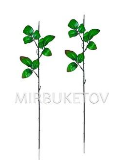 Ножка одиночная под розу, 3 тройных листа с кантом, 570 мм, N207