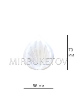 Искусственная Калла, атласная, 55x70 мм, F27-3