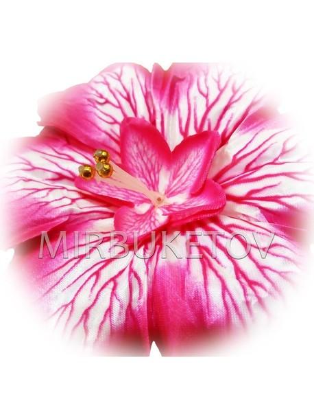 Пресс-цветок со вставкой Гербера, атлас, 150 мм, E3+
