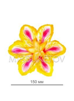 Пресс-цветок со вставкой Лилия, атлас, 150 мм, E6+