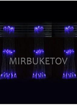 Гирлянда-водопад LED синяя, 300 ламп, 2x2 м, WL300BL22-T